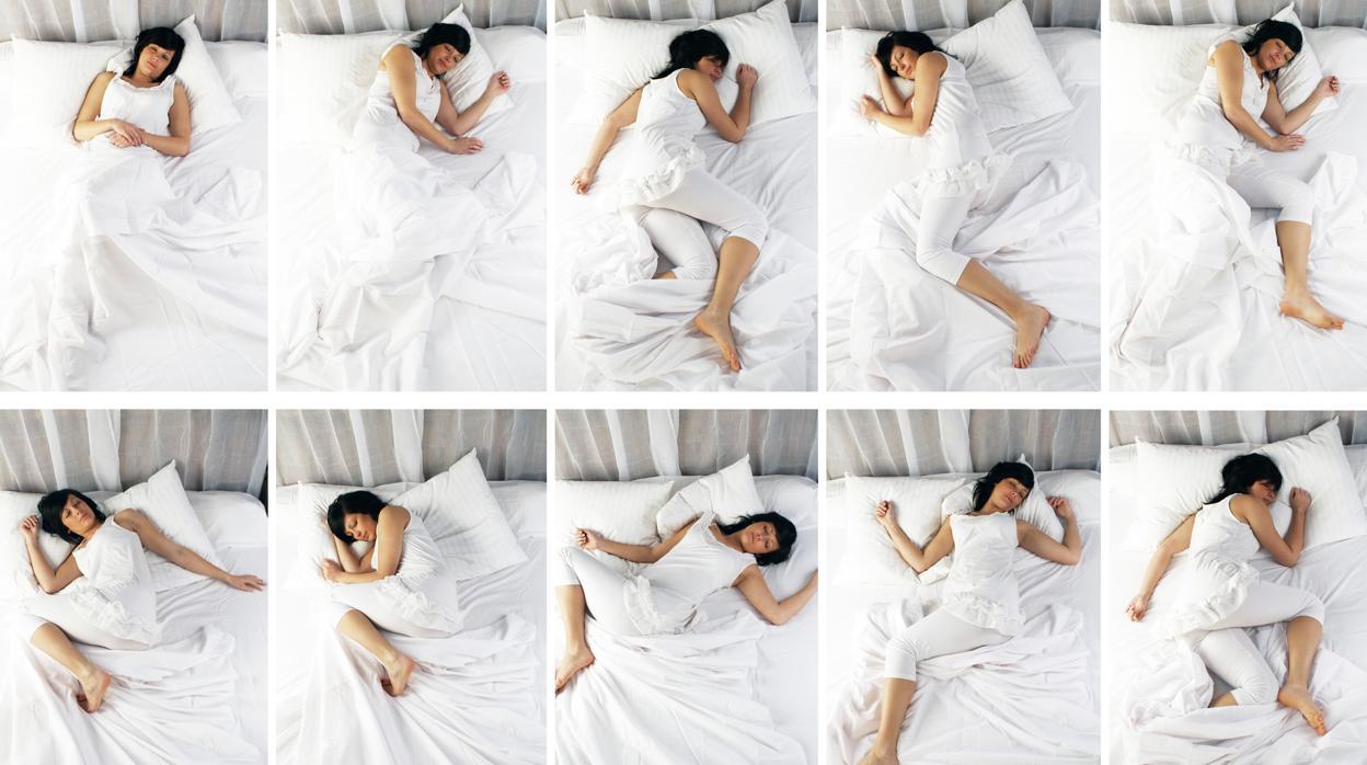 persona durmiendo boca arriba
