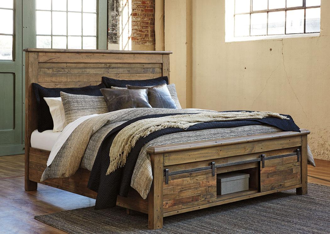 una cama Queen