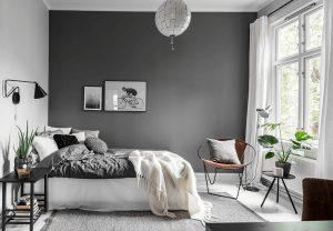 habitación pintada de negro
