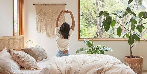 cuarto fresco con plantas